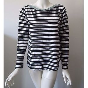 Anthropologie 9-H15 STCL Top Striped Long Sleeve